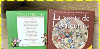 """Alt_portada del libro """"La visita de Valentina"""" y títulos de la colección de ediciones Mas Casablanca"""
