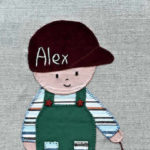 Cuadro con una imagen de un niño llamado Àlex, igual como nuestro segundo hijo.