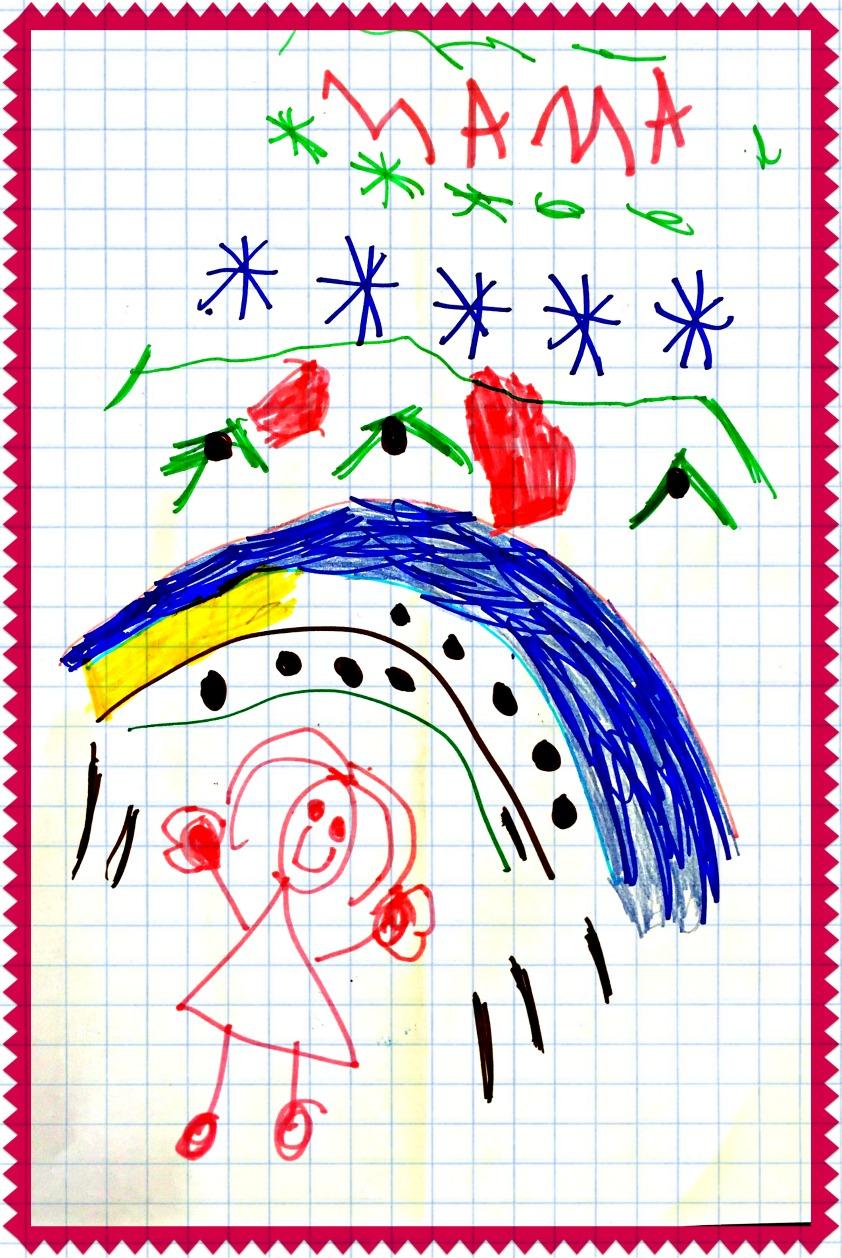 Alt_Dibujo de mamá por mi hija de cinco años