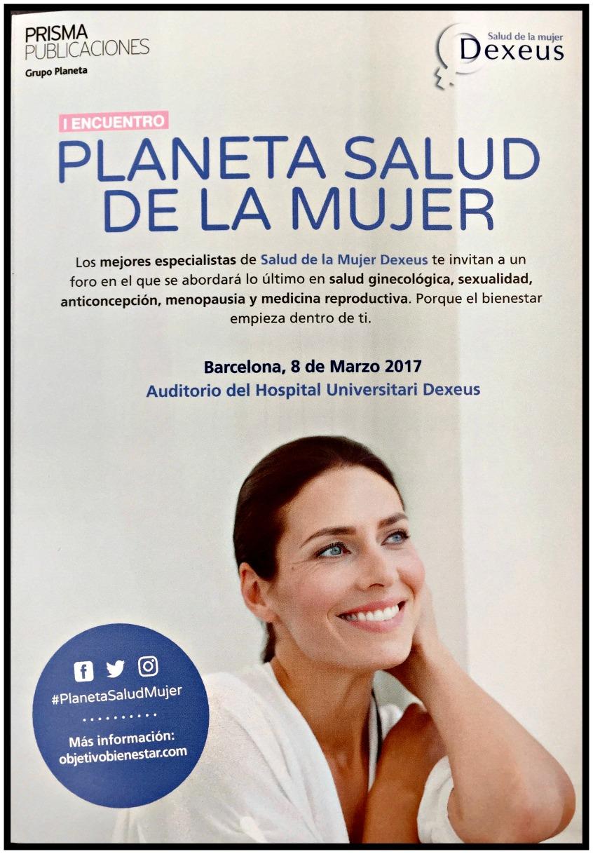 Alt_folleto con el programa del Encuentro Planeta Salud de la Mujer