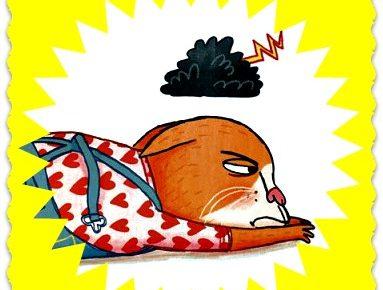 """Alt_imagen del personaje de Olivia del libro """"Olivia y el mal humor"""" del autor e ilustrador Tor Freeman."""