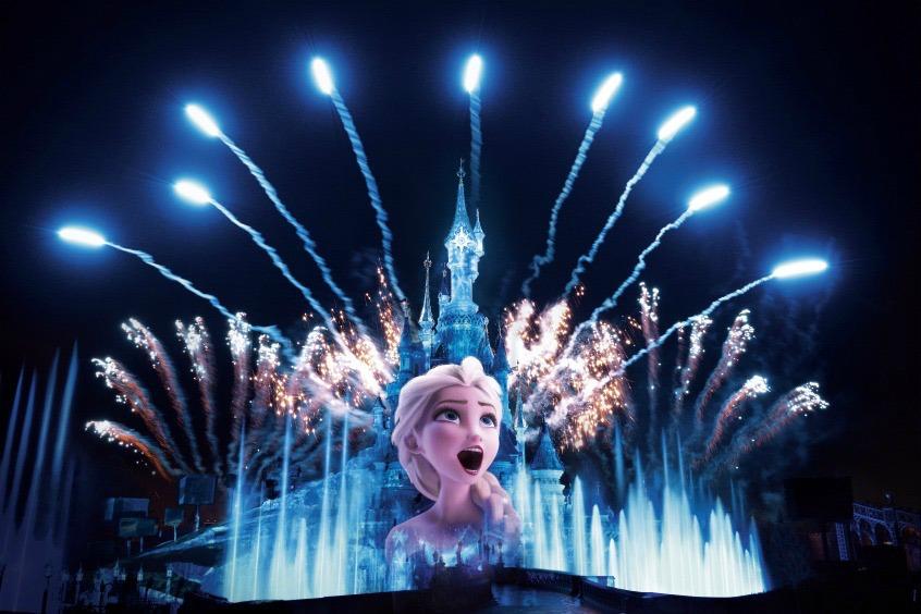 Alt_Espectáculo de luz de Frozen en Disneyland Paris