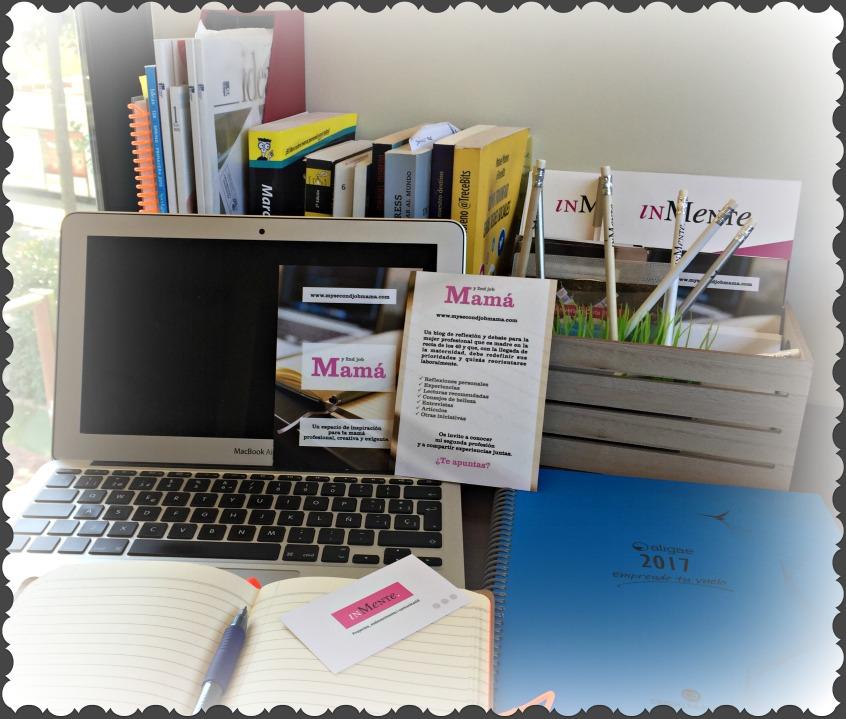 Alt_ espacio de trabajo con agenda, cuaderno de notas y ordenador.