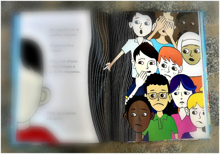 "Alt_imagen interior libro Tots som Wonder"" sobre la tolerancia"