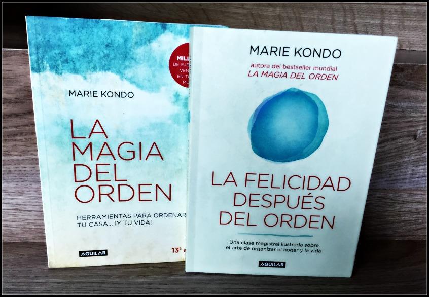 Alt_portadas de los libros de Marie Kondo sobre poner orden en el hogar