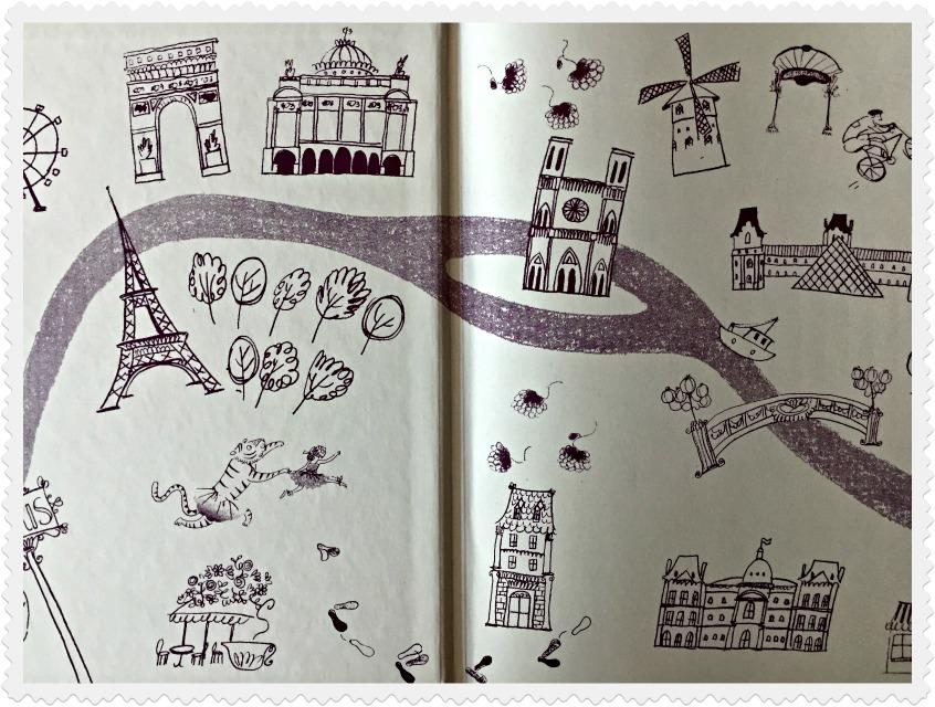 Alt_ imagen ilustrada de París con los protagonistas de la historia