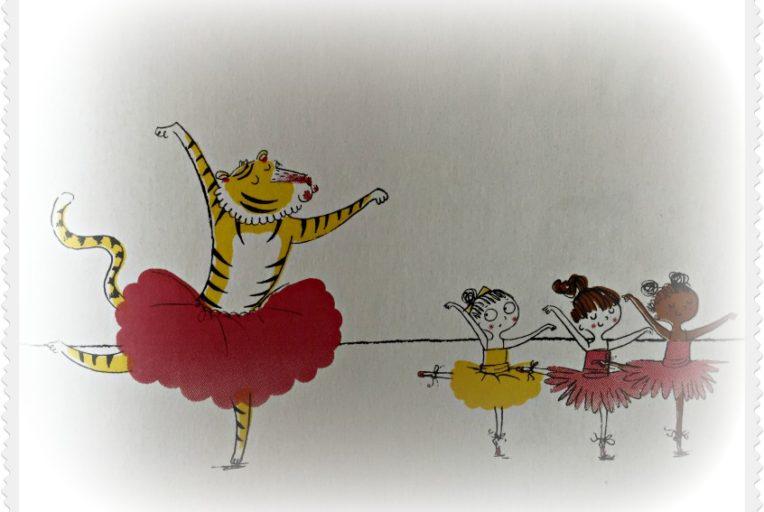 """Alt_imagen ilustrada Max y bailarinas de """"Un tigre con tutú"""""""