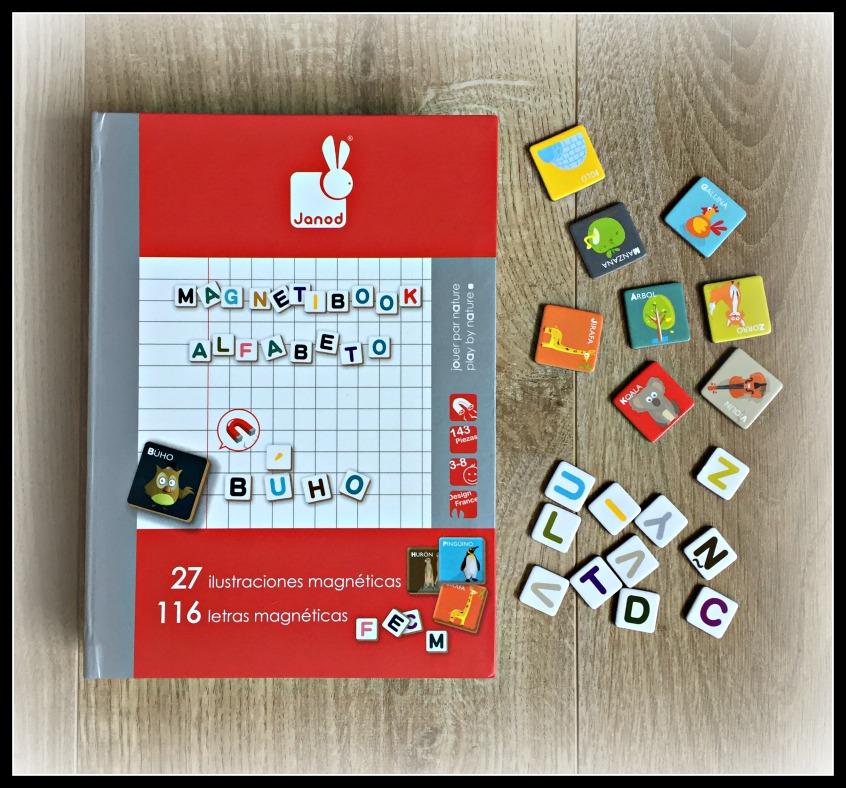 Alt_imagen de uno de los juegos de viaje propuestos, Magnetibook Alfabeto de Janod