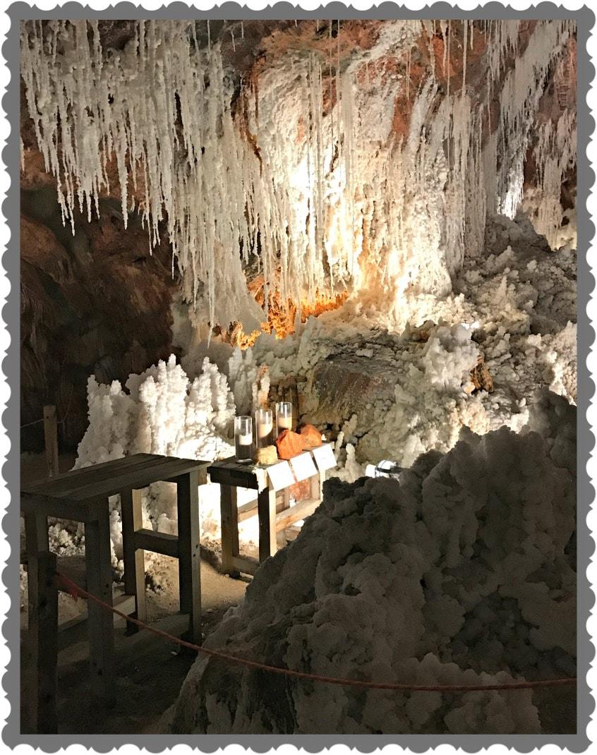 Alt_Imagen del interior de la Montaña de Sal de Cardona durante nuestra visita guiada