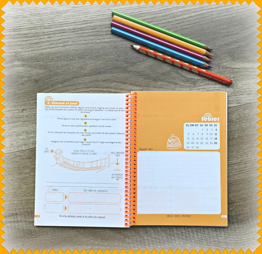 Alt_imagen parcial de algunas de las actividades de crecimiento personal de la agenda escolar
