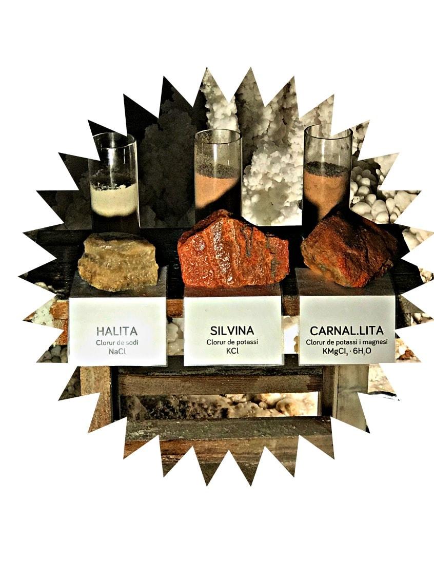 Alt_tres tipos de sal de la montaña de sal de Cardona