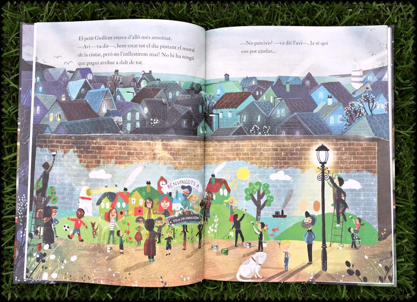 """Alt_ilustraciones David Litchfield en el interior del cuento """"El Gigante. El Secreto del abuelo"""""""